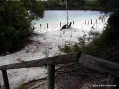Lake McKenzie (Booranggoora) Beach Feb 2011 almost from where Boorangoor