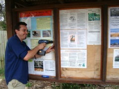 Monday was focussed on assessment and follow up on previous work such as refurbishing the sign shelter