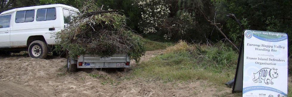 One of 17 trailer loads of weeds and garden waste that went to the Eurong waste transfer station during FIDO's May weed replacement trip