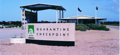 Quarantine is a way of life for many parts of Australia (photo Jon Sinclair)